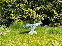 Nádoby - Zelená misa na nohe - 11687816_