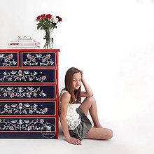"""Nábytok - Ručne maľovaná komoda """"Na chatu""""  (Maľovaná komoda podľa individualného návrhu) - 11687833_"""