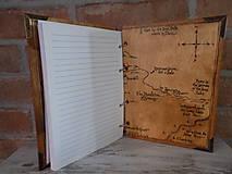 Pomôcky - Kolekcia Pán Prsteňov - Drevený zápisník Hobit - 11689352_