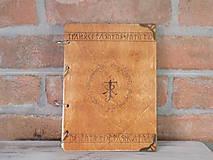 Pomôcky - Kolekcia Pán Prsteňov - Drevený zápisník Hobit - 11689353_