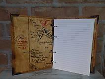 Pomôcky - Kolekcia Pán Prsteňov - Drevený zápisník Hobit - 11689358_