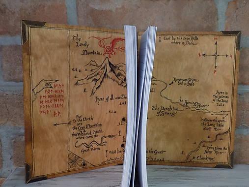 Kolekcia Pán Prsteňov - Drevený zápisník Hobit