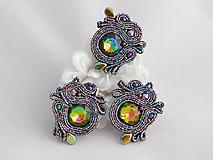 Sady šperkov - Multicolor sada náušníc a prsteňa - 11688801_