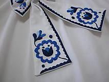 Iné doplnky - Dámska mašľa modro-biela - 11688671_