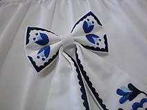 Iné doplnky - Dámska mašľa modro-biela - 11688674_