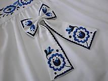 Iné doplnky - Dámska mašľa modro-biela - 11688675_