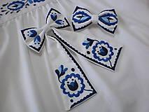 Iné doplnky - Dámska mašľa modro-biela - 11688678_