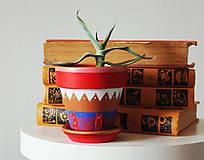 Nádoby - Terakotový kvetináč - Antique - 11689012_