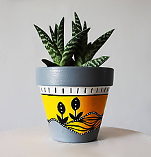 Nádoby - Terakotový kvetináč - Slnka lúč - 11688938_
