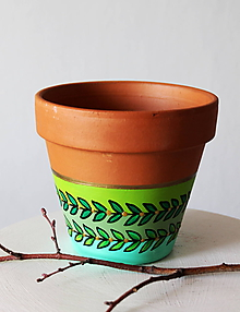 Nádoby - Terakotový kvetináč - Terakota leaf - 11689104_