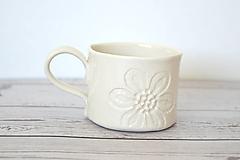 Nádoby - Espresso šálka Kvetinky - 11688177_