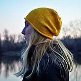 Čiapky - Bavlnená žltá čiapka - 11690394_