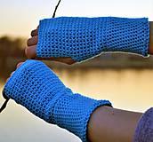 Rukavice - Tyrkysové bavlnené rukavice - 11690415_