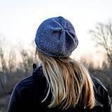 Čiapky - Šedá čiapka s trblietkami - 11690480_