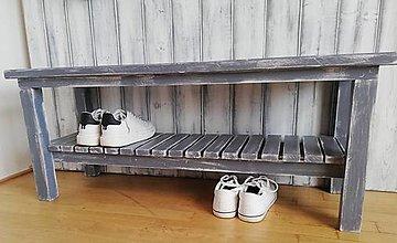 Nábytok - Lavička - botník sivý - 11690844_