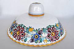 Svietidlá a sviečky - Vyrezávaný luster, pestrý dekór - 11690091_