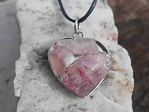 Náhrdelníky - TURMALINA pink-rubelit,turmalín - 11691320_
