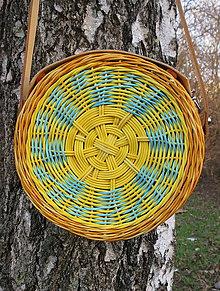 Kabelky - Kabelka okrúhla - Slnečnica - 11689810_