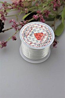 Galantéria - biela gumička 60m AKCIA! - 11689985_