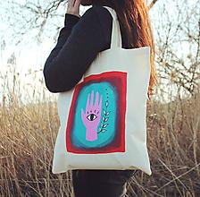 Nákupné tašky - Eko taška - Human (100% bavlna) - 11691005_