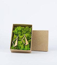Náušnice - Drevené naušnice - 11690793_