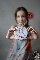 Detské doplnky - Malá Vyšiláska s iniciálou - 11691199_