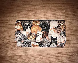 Peňaženky - Peňaženka - mačičková - 11690751_