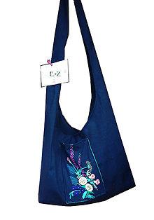 Veľké tašky - čierna taška s výšivkou - 11690702_