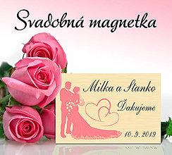 Darčeky pre svadobčanov - Svadobná magnetka - 11692998_