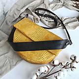 Kabelky - Kabelka Nadia (žltá croc) - 11691712_