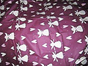Úžitkový textil - Vianočný obrus ANJEL 176 cm x 143 cm - 11693710_