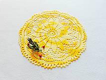 Úžitkový textil - Háčkovaná dečka Jarné slnko - 11691911_