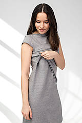 Šaty - Šaty CIK-CAK na dojčenie - krátky rukáv - 11691912_