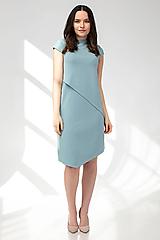 Šaty - Šaty CIK-CAK zeleno-modré (M) - 11691921_