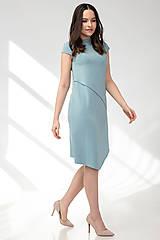 Šaty - Šaty CIK-CAK zeleno-modré (M) - 11691922_