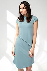 Šaty - Šaty CIK-CAK zeleno-modré (M) - 11691925_