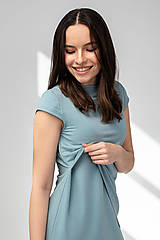 Šaty - Šaty CIK-CAK zeleno-modré (M) - 11691926_