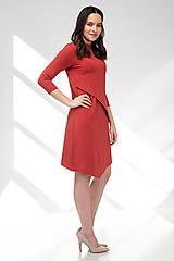 Šaty - Šaty CIK-CAK na dojčenie tehlové - 11691932_