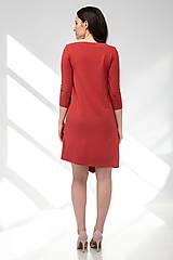Šaty - Šaty CIK-CAK na dojčenie tehlové - 11691933_
