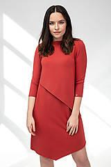 Šaty - Šaty CIK-CAK na dojčenie tehlové - 11691934_