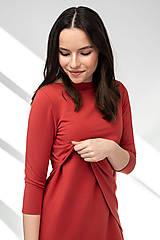 Šaty - Šaty CIK-CAK na dojčenie tehlové - 11691935_