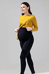 Tehotenské/Na dojčenie - Tehotenské modalové legíny - 11692454_