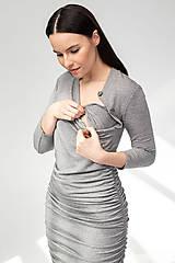 Tehotenské/Na dojčenie - Tehotenské šaty/na dojčenie BUTTON - 11692557_