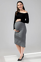 - Tehotenská sukňa DIAGONAL - 11692645_