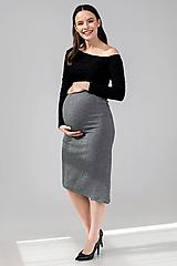 Tehotenské/Na dojčenie - Tehotenská sukňa DIAGONAL - 11692645_
