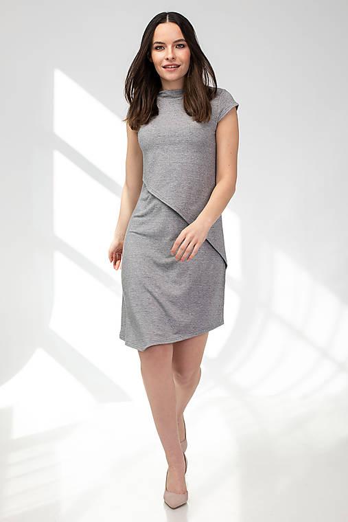 Šaty CIK-CAK na dojčenie - krátky rukáv