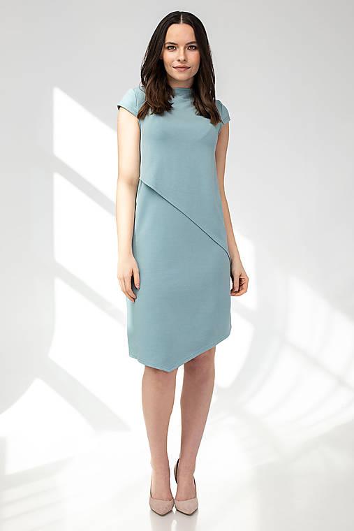 Šaty CIK-CAK zeleno-modré (M)