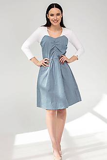 Šaty - ŠATY AMÉLIE BLEDÝ DENIM - 11691855_