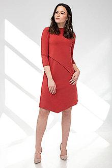 Šaty - Šaty CIK-CAK na dojčenie tehlové - 11691931_