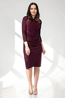 Šaty - Šaty WRAP - bordové - 11692629_